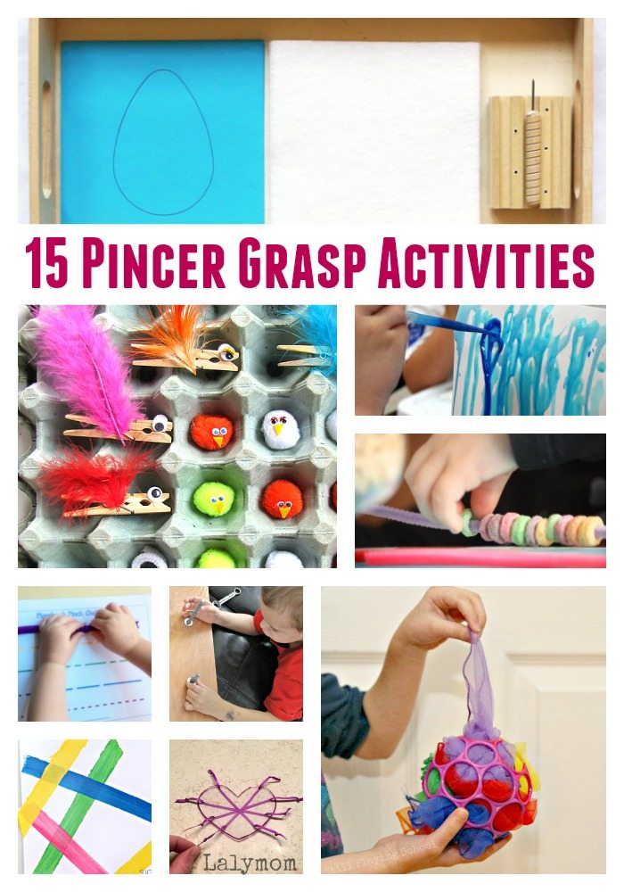 15 Pincer Grasp Activities for Toddlers and Preschoolers - Great fine motor skills activities!