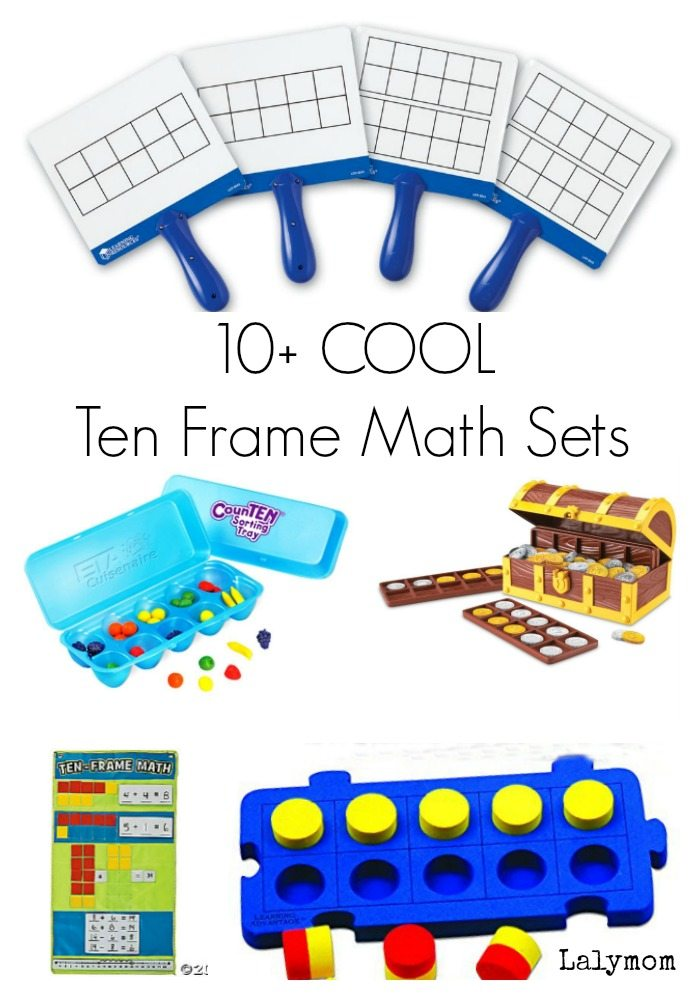 10+ Cool Ten Frame Math Sets for Kids - Helps kids learn parts and whole, addition, subtraction and math facts.