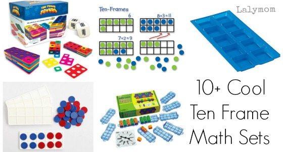 10+ Super Cool Ten Frame Sets to make math facts fun!