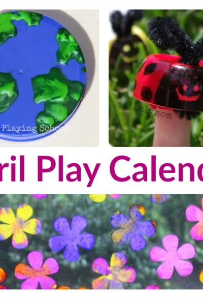 April Activities for Kids – Free Monthly Play Calendar
