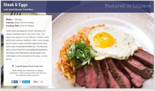 Blue Apron Review - Steak and Eggs on Lalymom