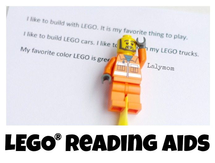 Simple LEGO Reading Aids for Kids