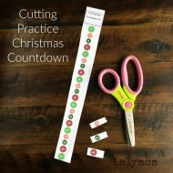 Cutting Practice Christmas Countdown Activities – Free Printable