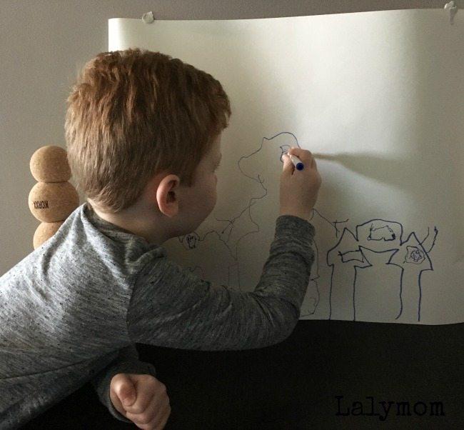 Decorating shadow drawings great activity using korxx blocks