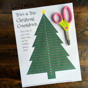 Free Printable Christmas Countdown for Kids - Trim the Tree every day from now until Christmas! - What a fun , easy idea!