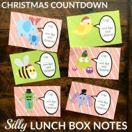 Christmas Countdown Lunchbox Notes – Free Printable