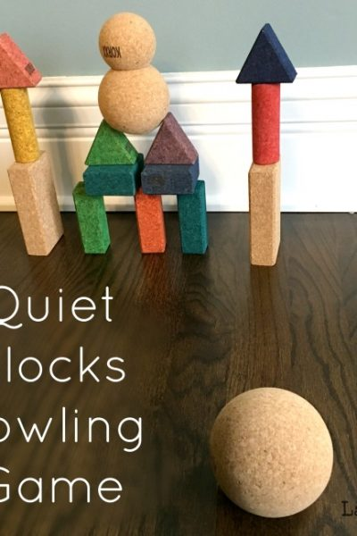 Quiet Bowling Activity for Kids with KORXX Blocks
