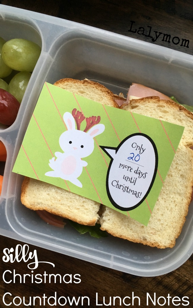 lunch box notes for christmas