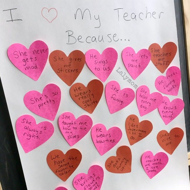 Cool Valentine Party Idea: Make this for valentine gift for teacher as an activity at the party!
