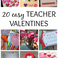 Easy Teacher Valentines You Can Make with the Kids Tonight