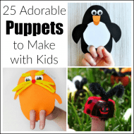 25 Adorable DIY Hand Puppets to Make with Kids