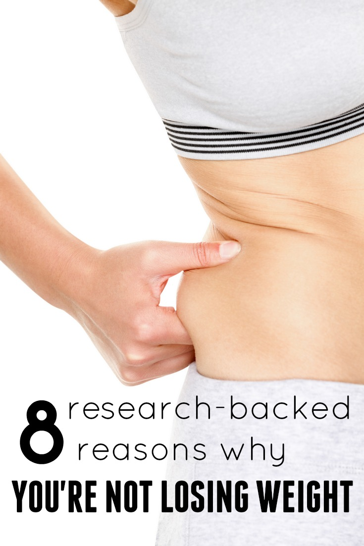 8 research-based reasons you are not losing weight. See what the latest studies say about what is holding you back!