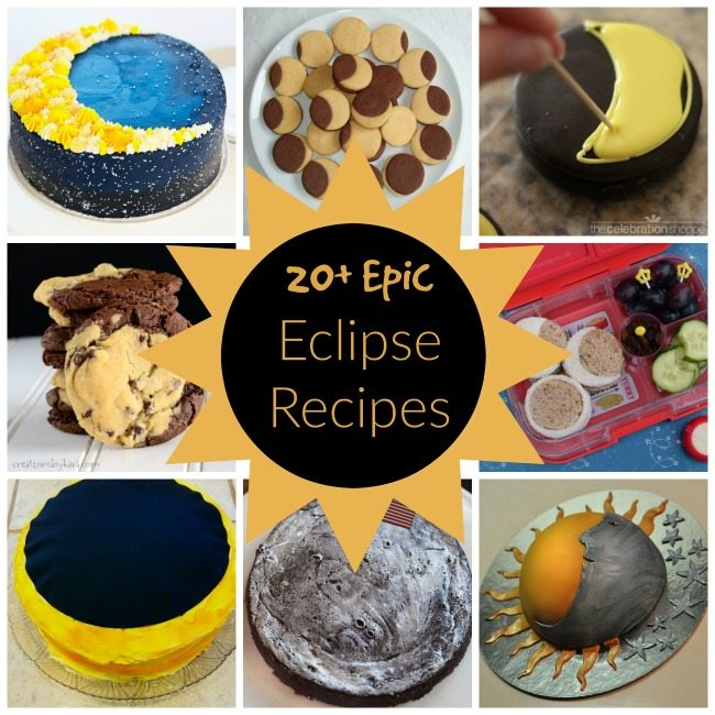 20+ Epic Eclipse Recipes - Perfect ideas for a Solar Eclipse Party, school celebration or a sweet treat in the name of science. Includes snacks, drinks, desserts ideas and more