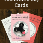 Fidget Spinner Printable Valentine's Day Cards