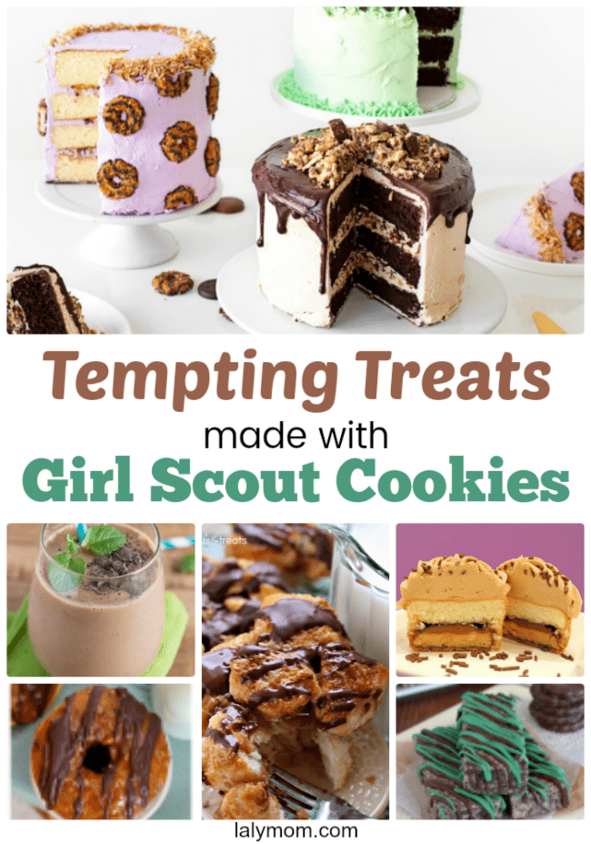 15+ EPIC Girl Scout Cookie Recipes - Highlight your favorite girl scout cookie flavors in these tasty dessert recipes or use up those leftover boxes! #girlscout #girlscoutcookies #recipes