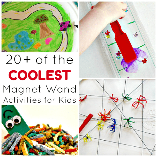20+Magnet Wand Activities for Kids - What a cool way to explore magnets with kids!