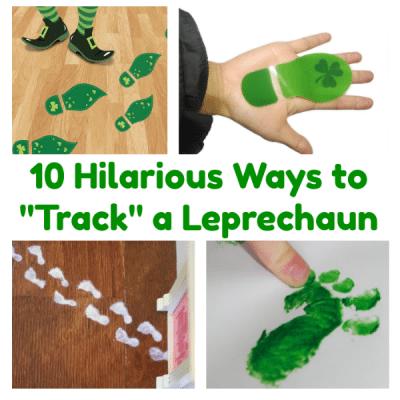 DIY Leprechaun Tracks for St. Patrick's Day