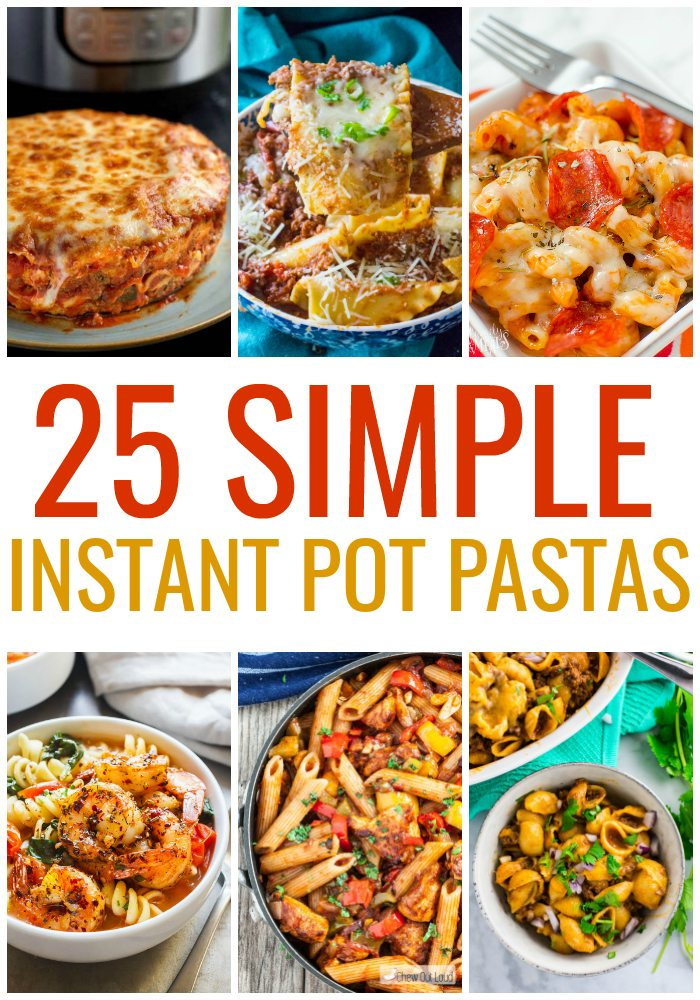 25 Simple Instant Pot Paste Recipes - So many easy ways to cook noodles in the pressure cooker! #dinner #instantpot #pressurecooker #easyrecipes #pasta #weeknightmeals