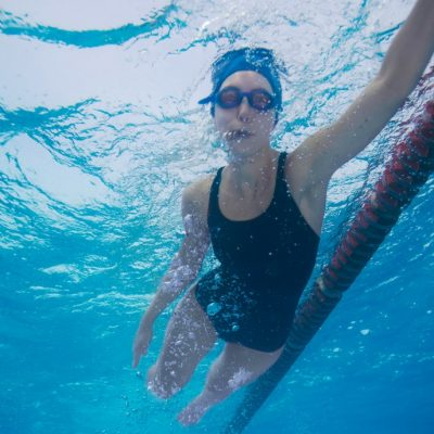 using a fitbit while swimming