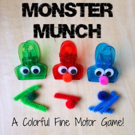 Monster Munch Fine Motor Game for Kids- Fine Motor Fridays