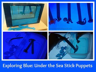 Color Blue Activities Under the Sea Stick Puppets from Lalymom