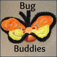 Butterfly Finger Puppet made from babyfood lid