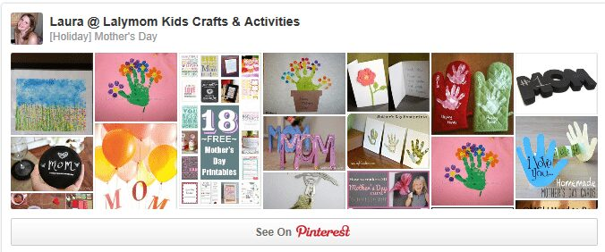 DIY Mother's Day Cards and Gifts Pinterest Board from Lalymom