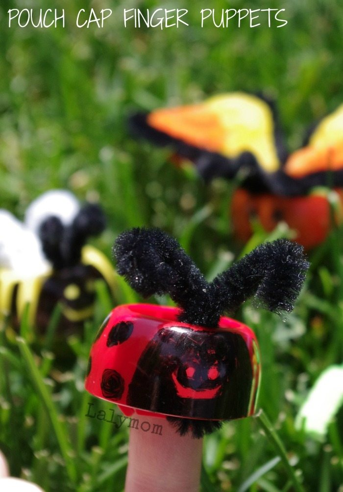 Spring Crafts for Kids Bug Finger Puppets from Lalymom