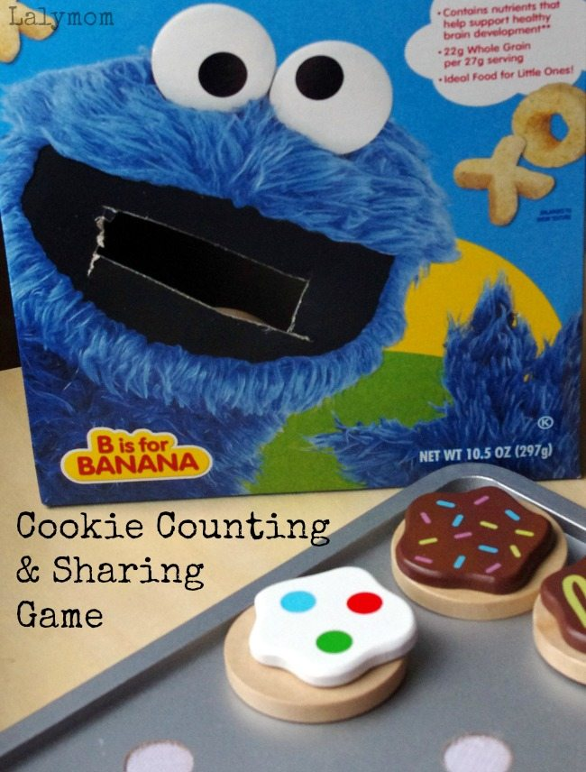 Cookie Counting and Sharing Game for Toddlers and Preschoolers- Feed Cookie Monster, how fun!