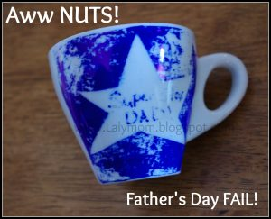 DIY Father's Day Sharpie Mug Fail from Lalymom