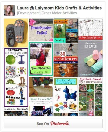 Gross Motor Development Activities for Kids Pinterest Board from Lalymom