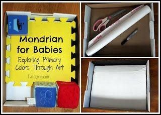 Mondrian sensory bun for babies