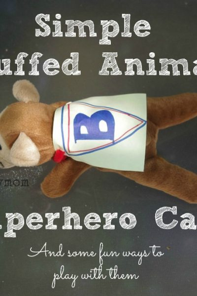 Simple Stuffed Animal Superhero Capes for kids from Lalymom