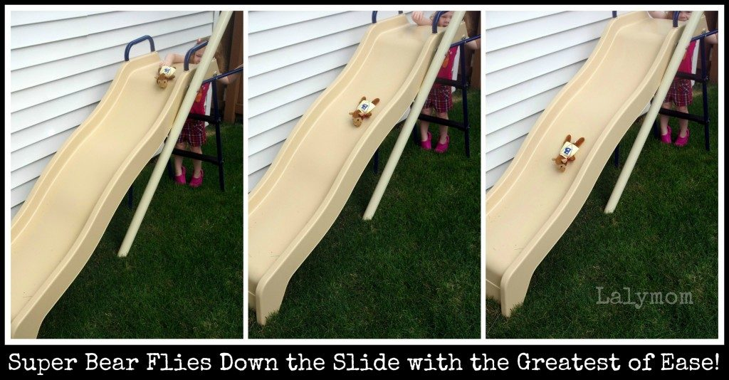 Stuffed Animal Superhero Capes Down Slide by Lalymom