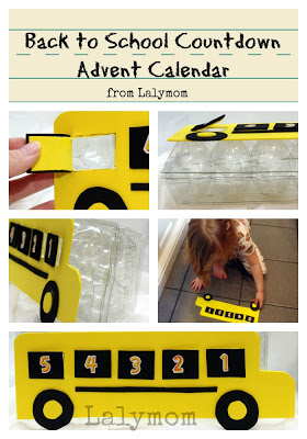 Back to School Countdown Calendar- Advent Calendar Using and Egg Carton from Lalymom