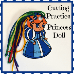 Cutting Practice Doll from Shrinky Dinks from Lalymom