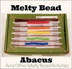 DIY Abacus Using a Box and Melty Beads