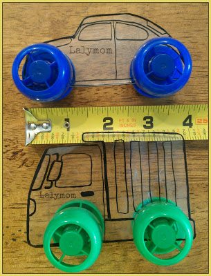 Shrink Film and Pouch Cap Rolling Car and Truck Toys from lalymom