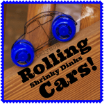 Shrinky Dinks DIY Rolling Car Toys from Lalymom