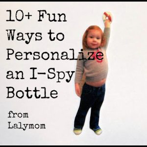 Shrinky Dinks to personalize an I-Spy Bottle from Lalymom