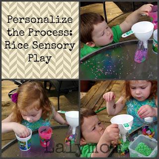 Rice Sensory Play I-Spy Bottles from Lalymom