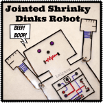 Jointed Robot Toy Using Shrinky Dinks from Lalymom