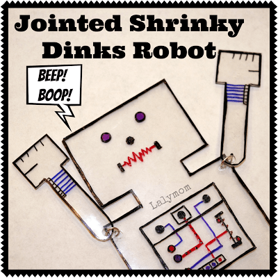 Jointed Arm and Leg Robot with Shrinky Dinks from lalymom