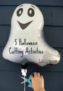 5 Silly Halloween Fine Motor Cutting Practice Activities from Lalymom - how fun would this be!