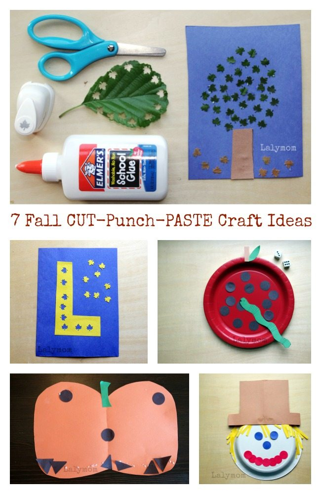 7 Fall Crafts for kids- perfect fall fine motor activities.