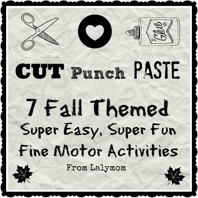 Fall themed Cut Punch Paste Fine Motor Crafts for Kids