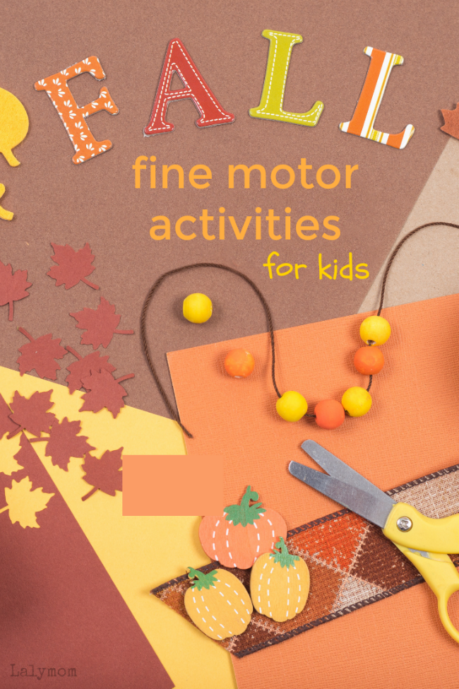 7 fun and simple Fall fine motor activities for kids. Easy and cute cut punch paste crafts and activities, perfect for preschoolers, kindergartners and beyond.