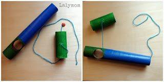 DIY Cardboard Fishing Pole for Kids