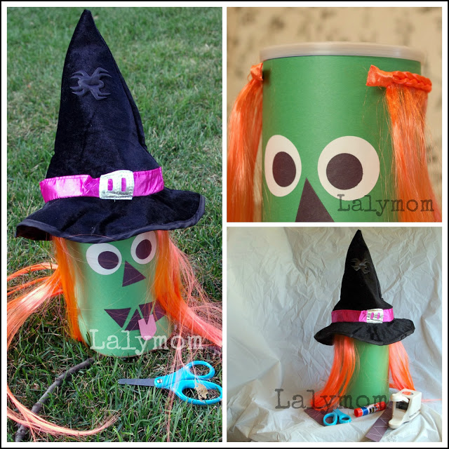 Cutting Practice Witch Halloween Haircut Craft for Kids from Lalymom