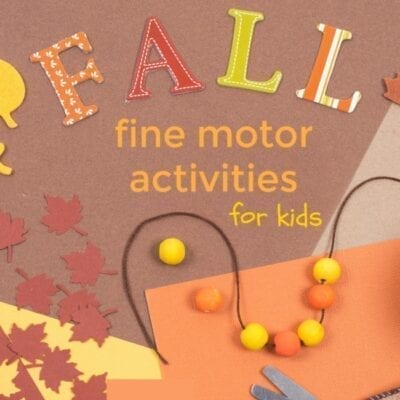 fall fine motor activities for kids - apples, leaves, scarecrows and more.